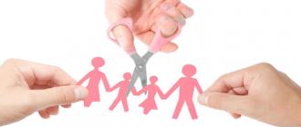 развод с двумя детьми