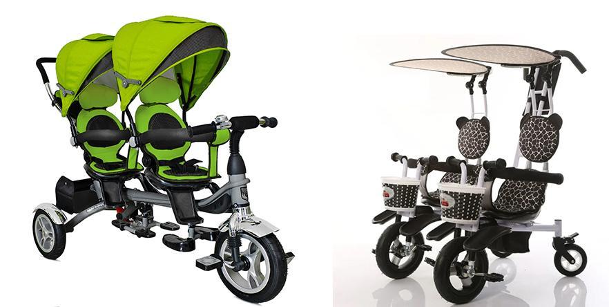 трехколесные велосипеды для двойни